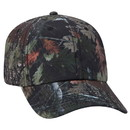 Blank OTTO 6 Panel Camouflage Polyester Canvas Low Profile Cap