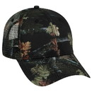 Blank OTTO Camouflage Superior Polyester Twill Six Panel Low Profile Mesh Back Trucker Hat