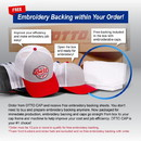 Custom OTTO Six Panel Polyester Pongee Perforated Back with Reflective Binding Trim Visor Running Cap