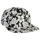 Blank OTTO Hawaiian Pattern Superior Cotton Twill Square Flat Visor Snapback Five Panel Camper Hat