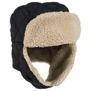 Custom OTTO Quilted Polyester Shell w/ Shearling Lining Three Panel Trapper Hat