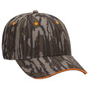 Blank OTTO 171-1294 CAP Mossy Oak Camouflage Superior Polyester Twill Sandwich Visor 6 Panel Low Profile Baseball Cap