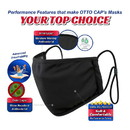 Blank OTTO CAP Binding Edge Face Mask w/ Adjustable Straps