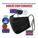 Blank OTTO 174-1308 CAP Binding Edge Face Mask w/ Adjustable Straps
