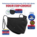 Blank OTTO CAP Contoured Binding Edge Face Mask w/Adjustable Straps & Nose Strip