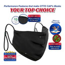 Blank OTTO CAP Contoured Face Mask w/Adjustable Straps & Nose Strip