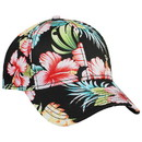 Hawaiian Pattern Cotton Twill Six Panel Low Profile Baseball Cap