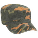 Custom OTTO 41-789 Camouflage Superior Garment Washed Cotton Twill Military Style Cap