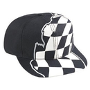 Custom OTTO 56-149 Racing Flag Pattern Cotton Twill Pro Style Cap