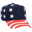 Custom OTTO 57-174 United States Flag Pattern Cotton Twill Low Crown Golf Style Cap
