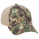 Blank OTTO Camouflage Cotton Blend Twill Six Panel Low Profile Baseball Cap