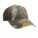 Custom OTTO Camouflage Garment Washed Cotton Blend Twill w/ Heavy Washed PU Coated Back Six Panel Low Profile Baseball Cap