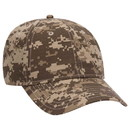 Blank OTTO Digital Camouflage Cotton Ripstop Six Panel Low Profile Baseball Cap