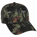 Blank OTTO Camouflage Superior Polyester Twill Six Panel Low Profile Baseball Cap