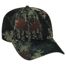 Blank OTTO Camouflage Polyester Pique Mesh Six Panel Low Profile Baseball Cap