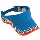 Custom 95-543 Flame Pattern Cotton Twill Sun Visors - Heat Transfer