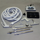 Built-in Kit, 35' Dual Switch Ivory Nozzle Tools Caddy Hngr