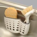 Casabella 50095 Sponge Holder, Sink Sider Suction Cup White/Grey