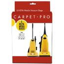 Carpet Pro: CP-CPH-6, Paper Bag, HEPA CPU1/1T/, CPU2/2T 6Pk