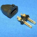Fitall 32-5604-61, Plug, Male W/Cord Holder 2 Wire Black Import