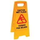 Jansan P1203, Sign, Caution/Wet Floor English/Spanish