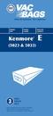 Paper Bag, DVC Kenmore 5033 3Pk