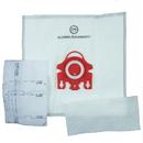 Paper Bag, DVC Miele F/J/M Syn W/Plastc Clr 5+2Pk