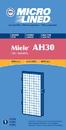 Filter, DVC Miele AH30 S300/S800 HEPA 1Pk
