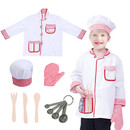 TopTie Children Chef Costumes, Cook Role Play Costume Set