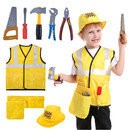 TOPTIE Engineer Worker Role Play Costumes Set With Tools, 3-8 Years