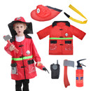 TOPTIE Child Firefighter Costumes, Fire Chief Role Play Costume Set