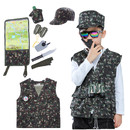 TopTie Camo Tactical Soldier Costumes, Military Motif Role Play Set For Kid