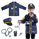 TOPTIE Police Officer Costume for Kids, Policeman Role Play Costume set