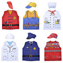 TOPTIE 6 Sets Kids Career Role Play Costume Set Occupation Pretend Play Dress up Costume