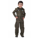 TopTie Jet Pilot Child Costume, Air Force Jumpsuit For Kid