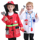 TopTie Doctor Role Play Costume Fire Chief Costume For Kids Cosplay Dressing Up