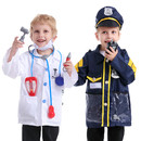 TopTie Police Officer & Doctor Costume For Kids Halloween Role Play Costumes