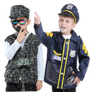 TopTie 2 Sets Kids' Role Play Costume Soldier & Police Officer Costume Set and Accessories