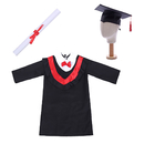 TopTie Bachelor Graduation Gown Cap Tassel for Kids Role Play Costume Dress up