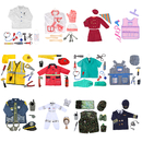 TopTie 12 Sets Vocation Role Play Costumes For Kids Dress Up Pretend Play For Halloween