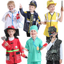 TOPTIE 6 Sets Pretend Play Costumes for Boys Role Play Sets Dress up Clothes