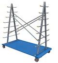 Vestil AFSR-3672 a-frame cart with storage rack 36w x 72l