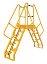 Vestil COLA-3-56-56 alter. cross-over ladder 118x81 10 step