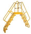Vestil COLA-7-68-56 alter. cross-over ladder 124x127 24 step