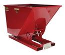 Vestil D-100-MD-SR self-dump hopper md 1 cu yd 4k lb red
