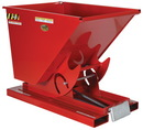 Vestil D-25-HD-SR self-dump hd hopper .25 cu yd 6k red