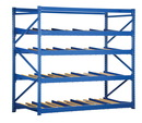Vestil FLOW-3-4 carton rack w/gravity roll 36 in 4 lvl