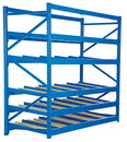Vestil FLOW-3-5 carton rack w/gravity roll 36 in 5 lvl