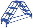 Vestil LAD-DD-18-4-G double sided ladder 4 step 19.3125w grip