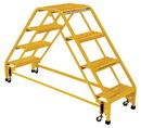Vestil LAD-DD-P-18-4-G dbl side portable lad4step 19.3125w grip